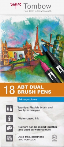 ABT Dual Brush Pen Set 18 Culori