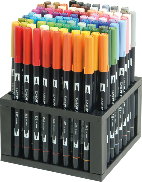 ABT Dual Brush Pen Set 96 Culori