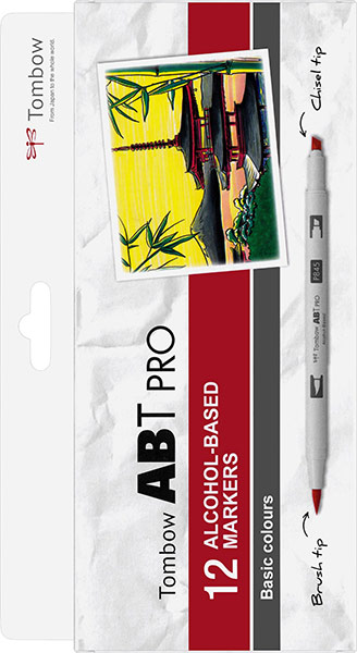 ABT Pro Dual Brush Pen Set 12 Culori